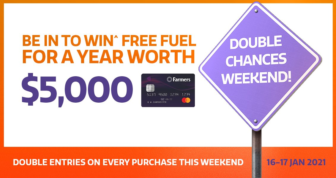 Double Chances to WIN^ free fuel for the whole year worth $5,000!